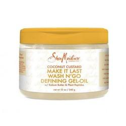Shea MoistureCoconut Custard Make It Last Wash N' Go Defining Gel-Oil (340gr)