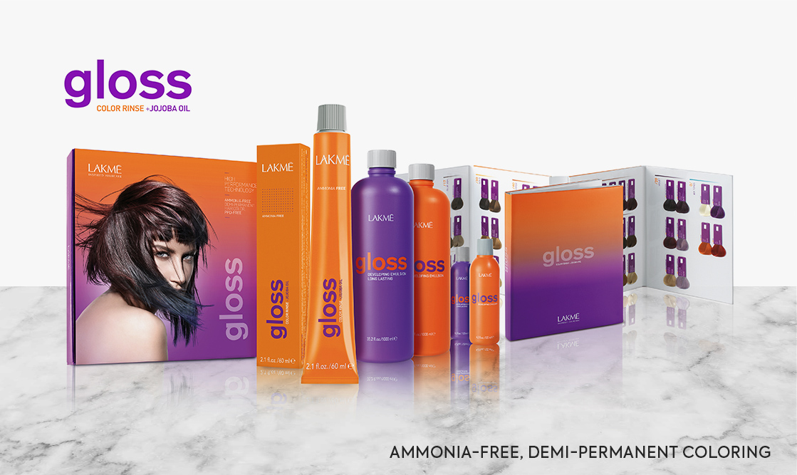 Lakme Gloss. Ammonia-free, demi-permanent coloring